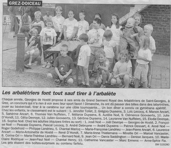 Journal_Tir de_la_fete_1999