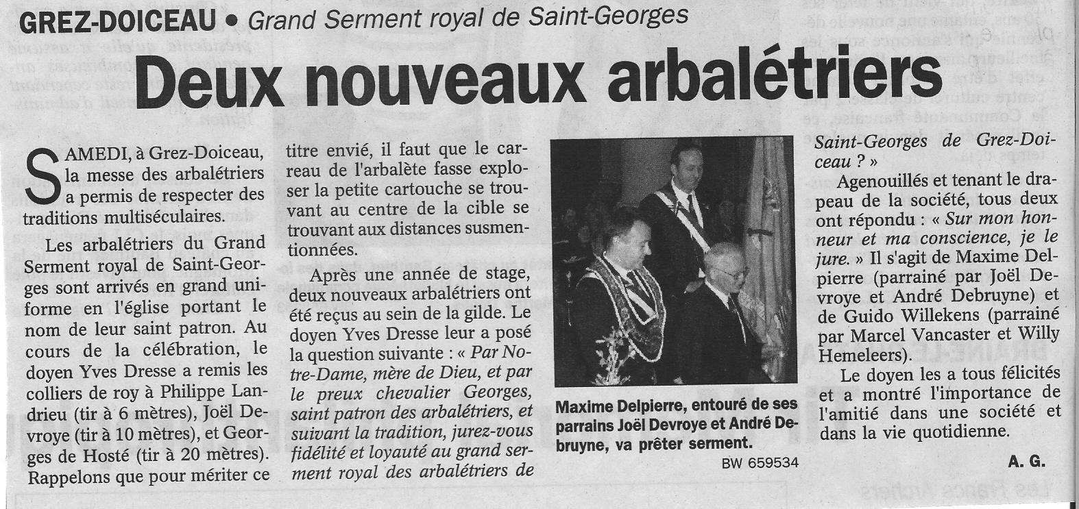 Prestation de serment-2006